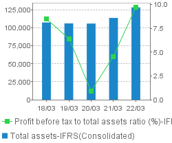 Total assets / Profit before tax to total assets ratio