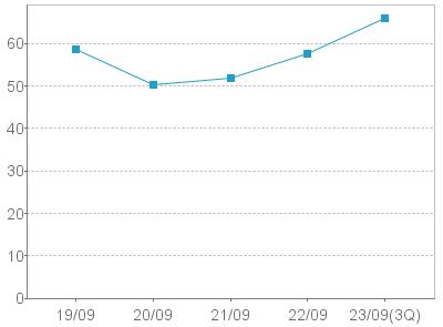 自己資本比率(グラフ)